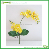 yellow color best plastic artificial orchid flowers for sale