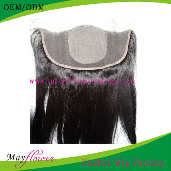 High quality silk straight silk top lace frontals freestyle with baby hairs hair piece Peruvian virgin hair
