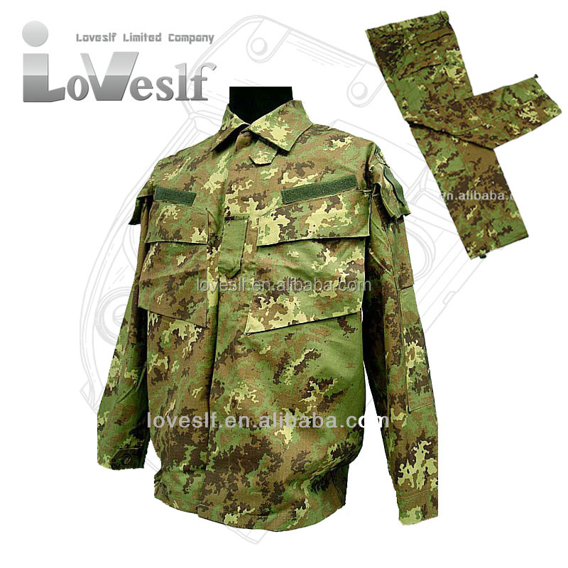 Loveslf high quality Italian camouflage suits army military uniform for combat mission