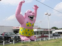 Inflatable Pink Gorila for advertisement F1058