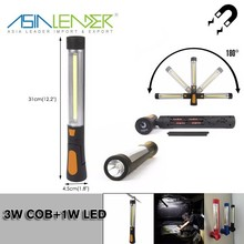 For Car Repairing and Emergency Magnetic Base & Hanging Hook, Battery-operated, 250 Lumens Portable LED Work Light