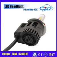 2015New Top quality P6 5200LM/bulb 55w 12v 9007 LED car lights led auto headlight kit best replacement for car headlights