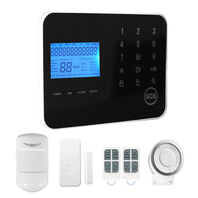 Auto-Dail GSM & PSTN Dual Network Wireless Security Alarm System