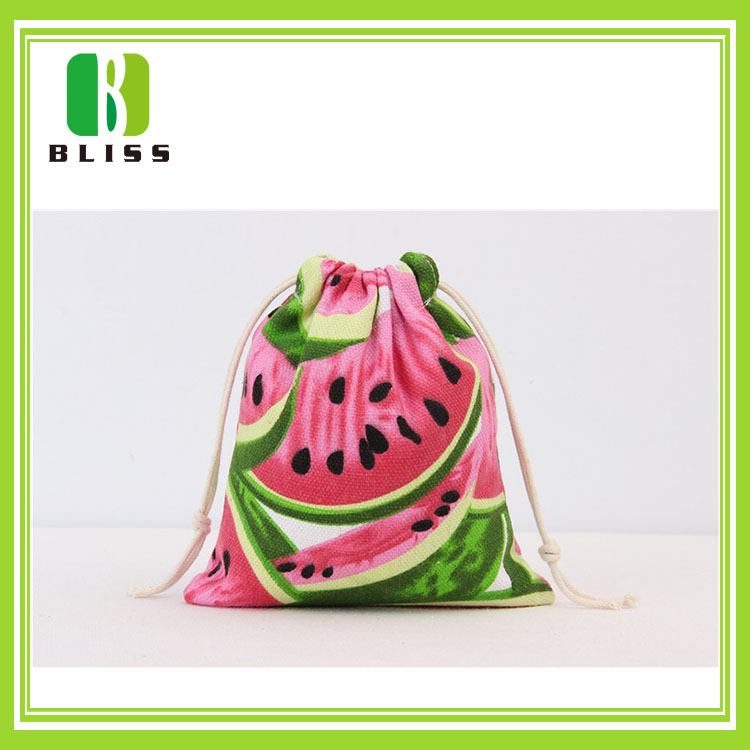 Custom made eco largefruit printing summer style canvas tote shopping cotton cloth bag