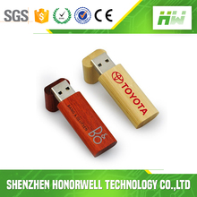Best promotional gift customized logo wooden usb flash drive 4gb