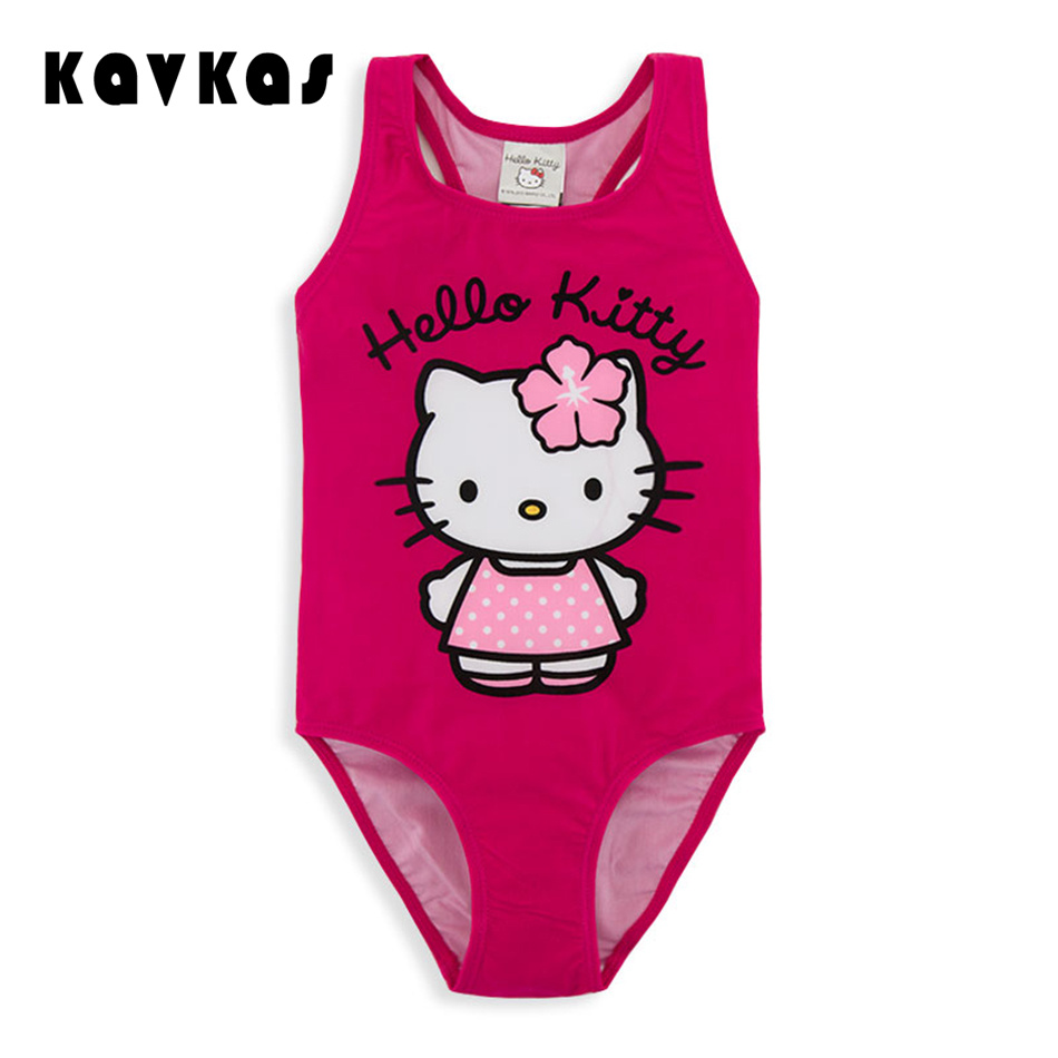 One piece Sex Children Beach Wear Cartoon Cute Kids Bikini Swimwear For Girls