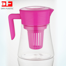 3L large capacity clear tritan plastic tea kettle with fruit infuser tritan kettle for juice with handle