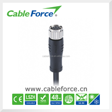 M8 female 6 pin circular Connector Straight Molded with PVC Cable Senor Cable Sensor Connector
