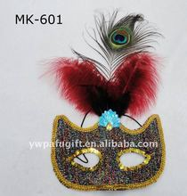 masquerade feather eye mask party mask