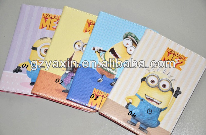 despicable me 2 tablet case,leather for ipad case
