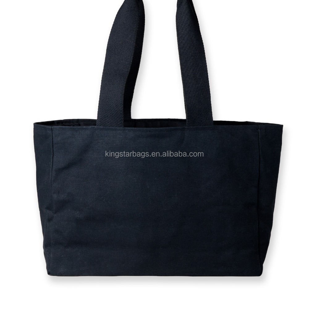 Kingstar Shenzhen Black Cotton Canvas Shopping Tote Bag
