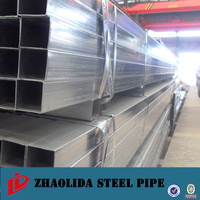 tianjin supplier of galvanized tube ! pipe tube rectangular plastic bottles hot dipped galvanized square steel pipe