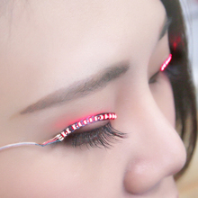 The New Glowing eyes stickers Luminous LED lashes Double eyelid stickers