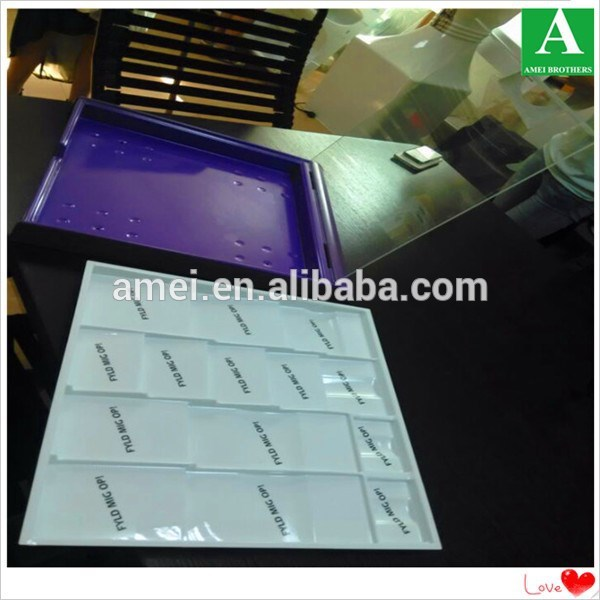 680*300*60mm plastic flocking cosmetic tray