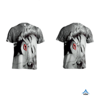 sexy girl sublimation printing high quality t-shirt custom designed