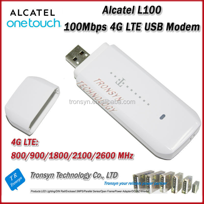 2014 New Arrival Original Unlock LTE FDD 100Mbps Alcatel L100 4G USB Modem Support LTE 800/900/1800/2100/2600MHz