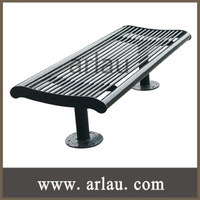 FS 013 Arlau durable steel curved park bench