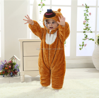 Wholesale 100% cotton baby clothes soft stylish baby winter romper set baby outdoor pajamas fashion snowsuit