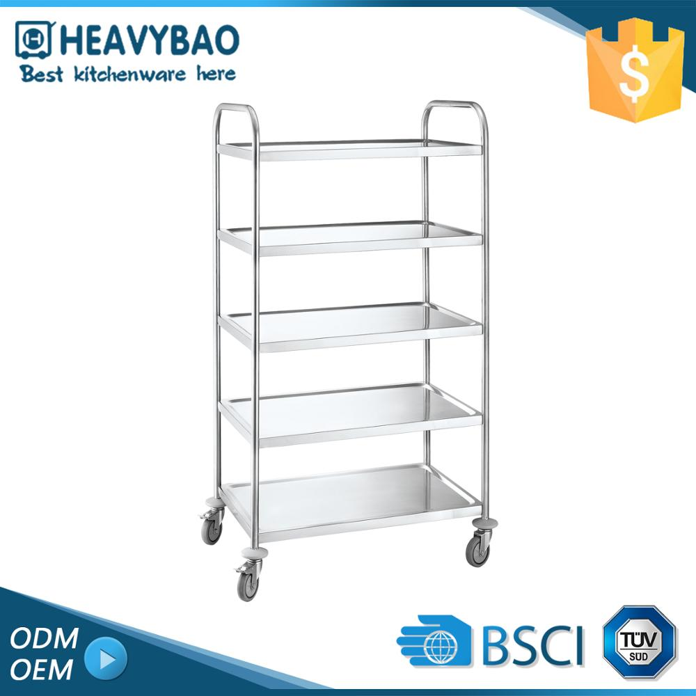 Excellent Quality Stainless Steel Knocked-down Domestic Shoe Medical Rolling Cart