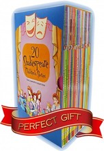 Shakespeare Stories Collection pack box Set 20 childrens Books - Shakespeare for children Romeo and Juliet, Macbeth, Othello, Th