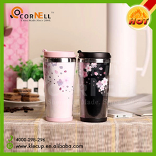 top selling customized insert paper double wall coffee mug lovers and couples tumbler cup factory price wholesale