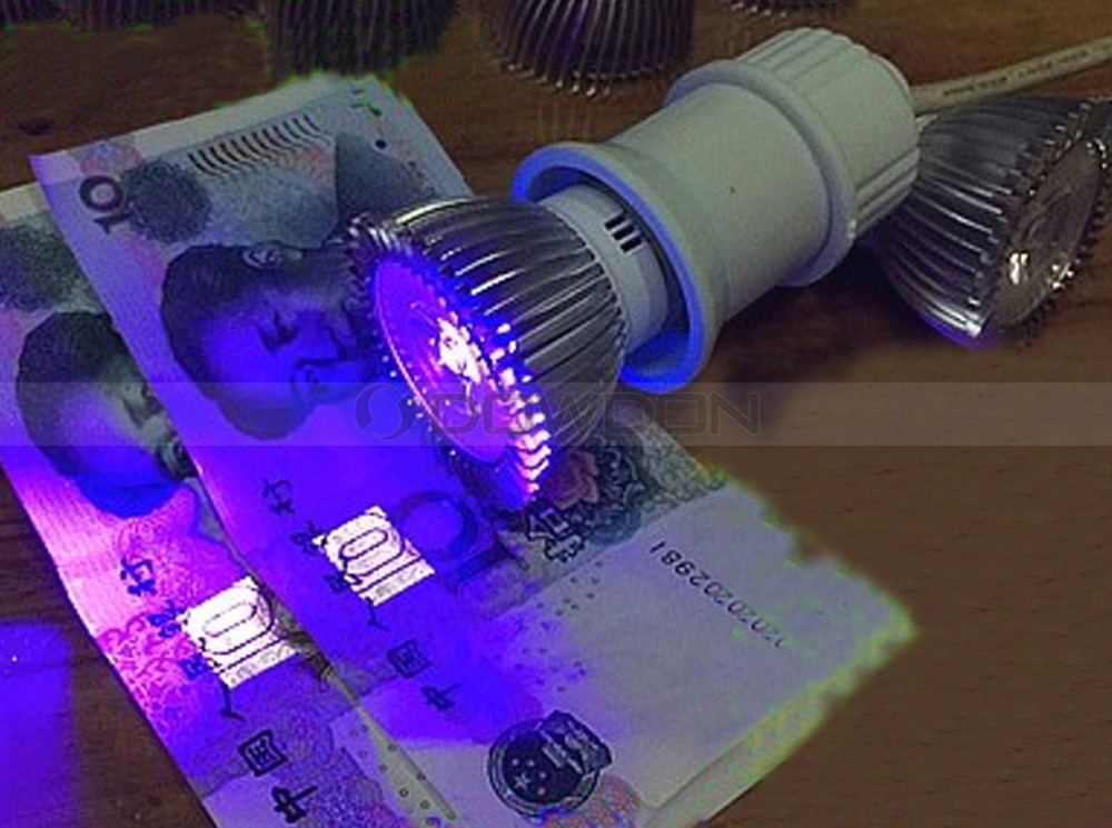 395-405nm Lamp 3W UV Ultraviolet Pipeline Leakage LED Bulb Light