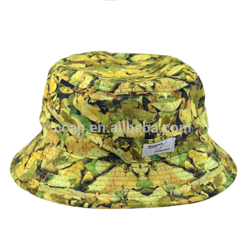 Custom Wide Brim Sublimation All Print Fisherman Cap Polyester Bucket Hat