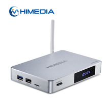 HDMI 2.0A Himedia Guscio In Alluminio Q5 Pro Quad Core TV Box Con Android 7.0