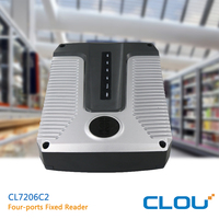 CLOU 860-960MHz fixed UHF reader case with RS232/USB port