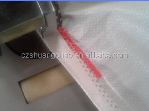 Ultrasonic threadless PP Woven bag making machine