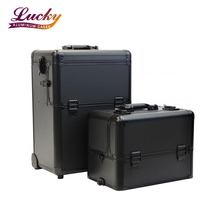 2-in-1 Aluminium Trolley Vanity Makeup Case Cosmetics Nail Hairdressing Case