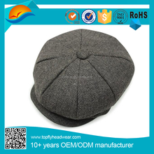 Fashion Octagonal cap unisex winter hat wholesale beret newsboy cap