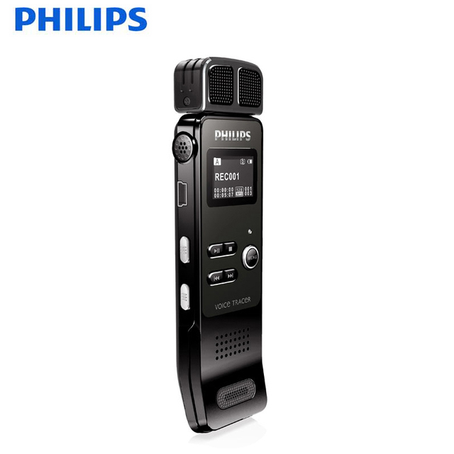 PHILIPS Voice Recorder with Wireless and Removable External Microphone