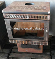 hot sale solid fuel wood stove with back boiler