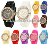 2013 HOT SALE Cheap Watches Ladies Silicone Rubber Band