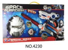 New product electronic gun for kids space weapon+mask+sword