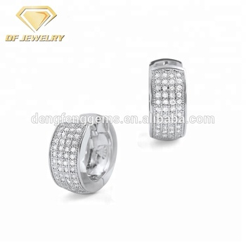 Silver Earrings Jewelry Men
