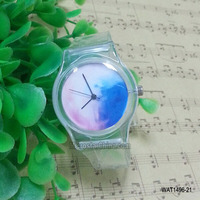 30 Various designs transparent plastic digital children wrist watch