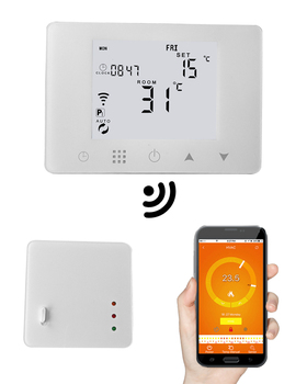 Smart wifi APP remote room thermostat wireless with RF connect
