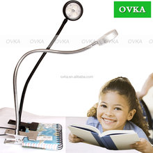 Eye Protection Clamp LED Desk Lamp Gooseneck Table light with USB Port for Home Reading Study Relaxation