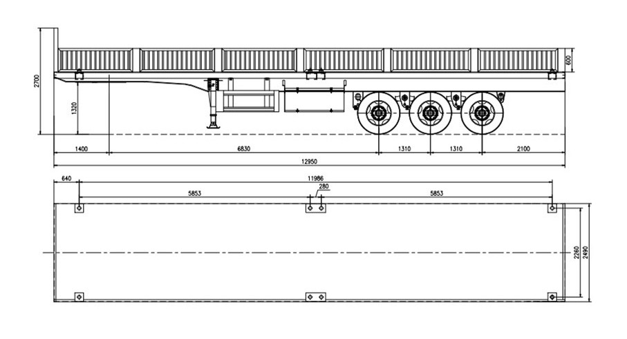 NEW Design 40 tons Curtain Sider Cargo Trailer/ Curtain Van Type Semitrailer/ Curtain Semi Trailer