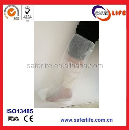 2017 New bath and swimming cover bandage disposable waterproof cast protector half leg