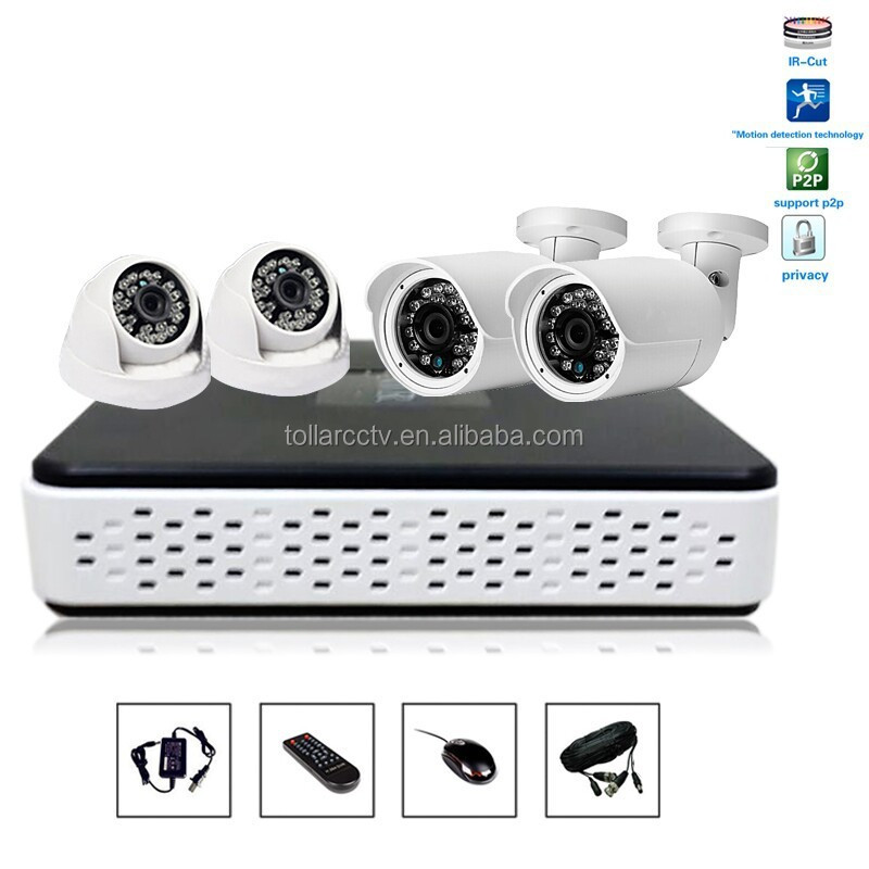hot new products waterproof camera full hd used day night 4ch 720p security camera