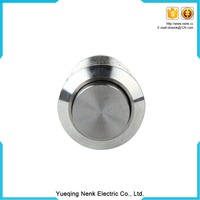 Diameter 12mm 250V Red led high flat Momentary Metal Stainless Steel Pushbutton Switch