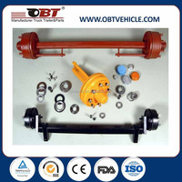 high quality round beam agriculture trailer axle 8t
