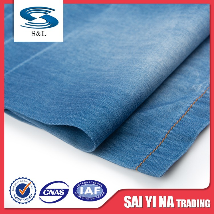 Girl textiles denim fabric factory cotton twill for pants