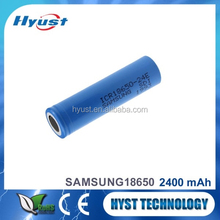 Wholesale Authentic 3.7V 2400mah icr18650 li-ion battery 18650 samsung icr18650-24e 2400mah - Free samples