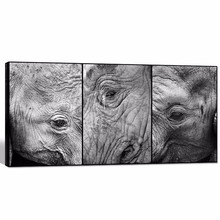 Elephant Close up Eyes Picture Giclee Print/,black and White Elephant Head Canvas Wall Art/animal Canvas Prints with Inner Wood
