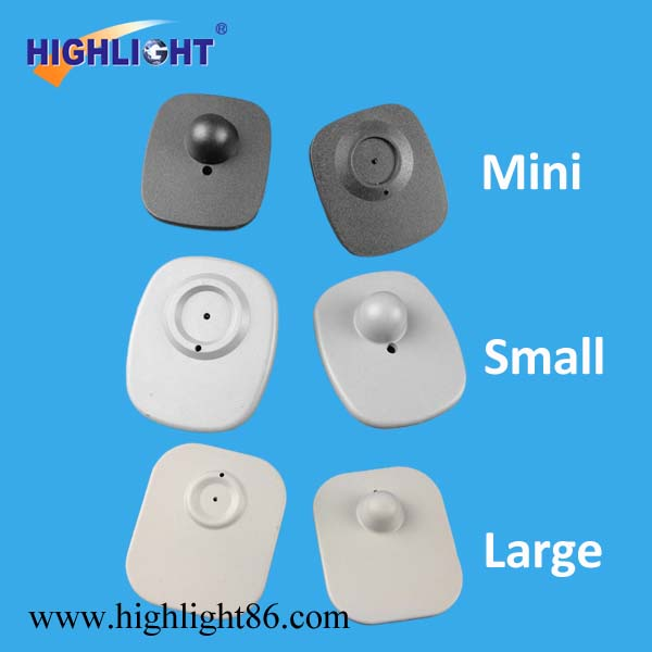 Highlight RF magnetic clothing tags high quality EAS mini hard tag 8.2mhz clothes store security alarm RF square tag