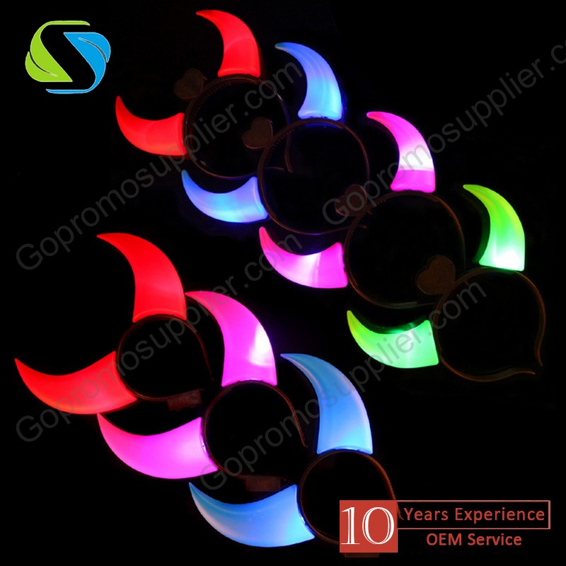 fashionable led flashy ox horn hair clasp, fashion hair accessories for party
